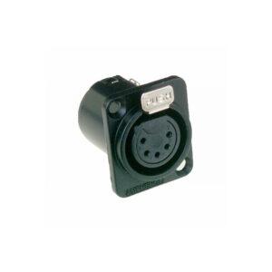 Amphenol AC5FDZB 5 Pin Female XLR Chassis Connector