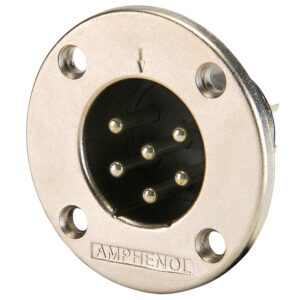 Amphenol EP-6-14 6 Pin Male EP Chassis Connector