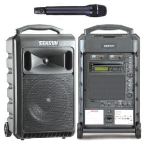 Senrun EP810BLUE Portable PA System With Wireless Microphone, Bluetooth and USB/SD Player