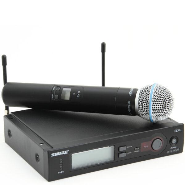 shure slx beta 58a wireless microphone system bishop audio lighting. Black Bedroom Furniture Sets. Home Design Ideas