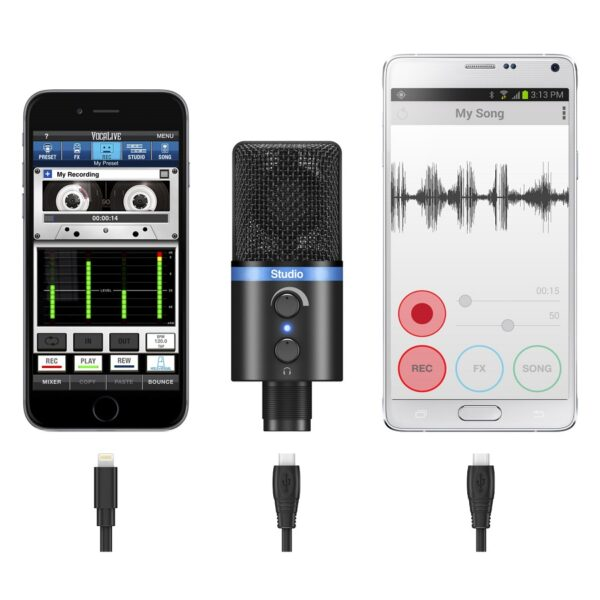 iRig MIC Studio – Ultra-portable large-diaphragm digital microphone for iPhone, iPad, iPod touch, Mac, PC and Android 2